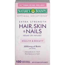 Nature's Bounty, Optimal Solutions, Hair, Skin & Nails, Extra Strength, 150 Rapid Release Liquid Softgels