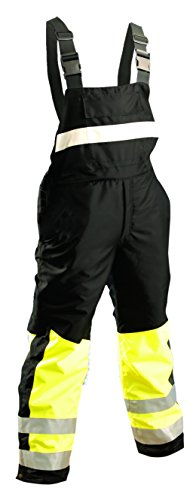 Occunomix Rainwear - OccuNomix SP-BIB-BYXL Class E Speed Collection Premium Cold Weather High Visibility Rainwear Bib, X-Large, Yellow