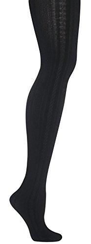 Capelli New York Cable Fleece Lined Full Tight Black (Capelli Fleece)