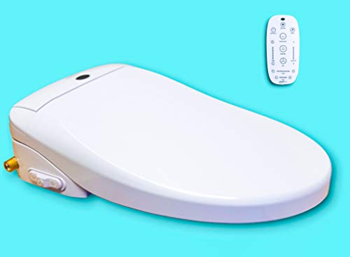 Genie Bidet Electric Heated Bidet Smart Toilet Seat | Unlimited Warm Water | Self Cleaning | Heated Seat | Elongated | Wireless Remote Control | Convenient Nightlight | Oscillating Wash | [UL listed]