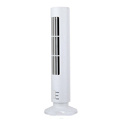 White Portable USB Cooling Air Purifier Mini Air Conditioner Tower Bladeless Desk Fan