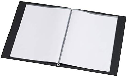 Rillstab Sichtbuch Original A4 schwarz 99494 100 Innentaschen