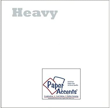 Dise ntilde;o de acento Acentos de papel ADPaperVellum1212 WhiteHeavy Vellum 12x12 40White Heavy
