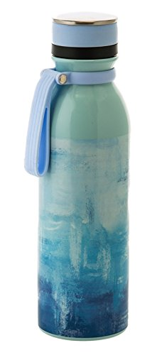 Cypress Home Stainless Steel Water Bottle, 20 Ounces (Blue and White Spackle)