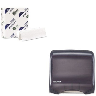 KITGEP20389SJMT1750TBKRD - Value Kit - San Jamar Ultrafold Towel Dispenser (SJMT1750TBKRD) and Georgia Pacific Multifold Paper Towels (GEP20389)