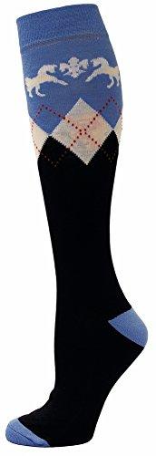 Equine Couture Hadley Knee Hi Socks | Color - Navy/Blue -