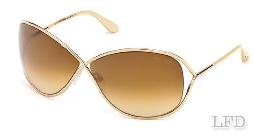 7449286fc8f Image Unavailable. Image not available for. Colour  Tom Ford MIRANDA FT0130  Sunglasses TF130 Color 28F shiny rose gold gradient brown ...