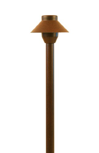 LED Low Voltage Landscape Small Hat Light in Rust Finish