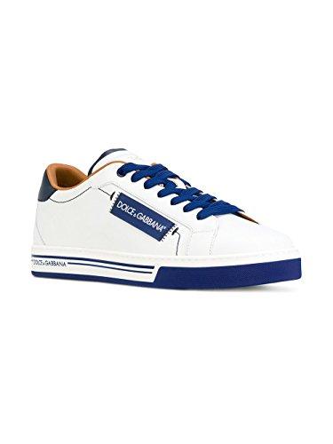 Dolce & Gabbana Hombre CS1572AN17589951 Blanco/Azul Cuero Zapatillas