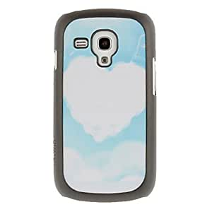 Heart Shaped Cloud Drawing Pattern Protective Hard Back Cover Case for Samsung Galaxy S3 Mini I8190