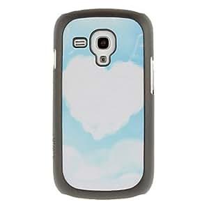 GX En forma de corazón patrón Dibujo Nube protector duro Volver Funda para el Samsung Galaxy Tendencia Duos S7562