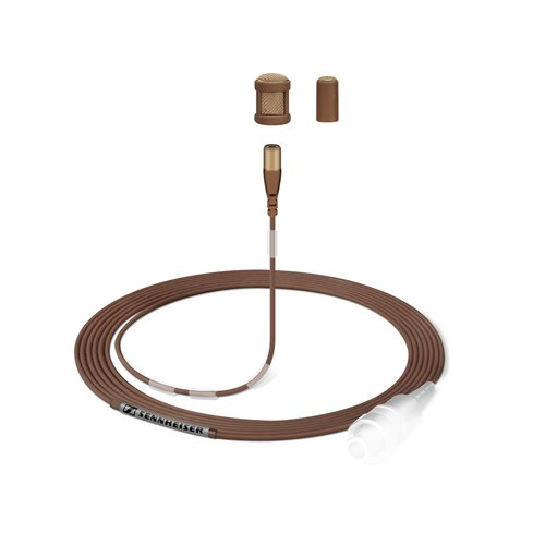 Sennheiser MKE 1-4-2 - Omnidirectional Subminiature Lavalier Microphone with 3-Pin Lemo Connector - Brown