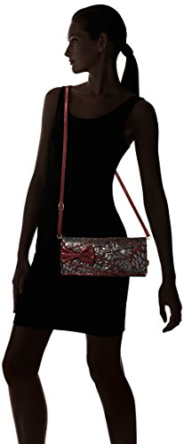 Patty Bow Red Clutch Burgundy Women's Choice Clutch Irregular wtqfE7f