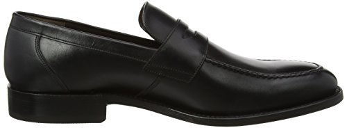 BARKER Herren Warner Slipper Black (Black Calf)