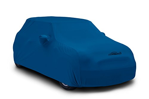 Coverking Custom Fit Car Cover for Select Ford Mustang Models - Satin Stretch (Grabber Blue) ()