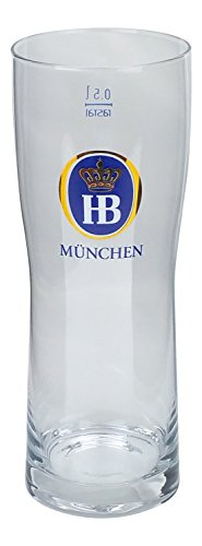 Hofbrau Munchen German Beer Glass 0.5L (Hofbrau Beer)