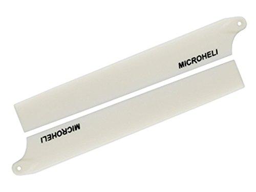 - MicroHeli MH-130X003WT Plastic Main Blade 135mm, White: Blade 130 X