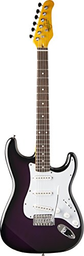 Oscar Schmidt 6 String Double Cutaway SSS Electric Guitar. Purple Sunburst (OS-300-PS-A)