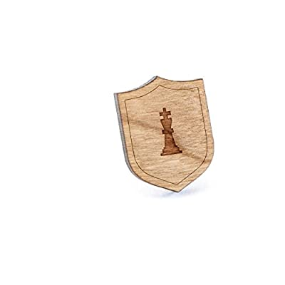 Nice King Chess Piece Lapel Pin, Wooden Pin And Tie Tack | Rustic And Minimalistic Groomsmen Gifts And Wedding Accessories free shipping