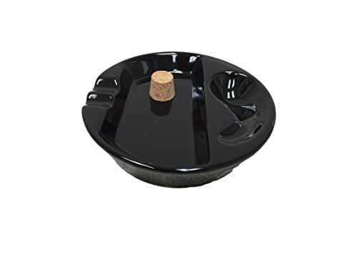 Sigara Black Ceramic Single Pipe Rest and Double Cigar, used for sale  Delivered anywhere in USA