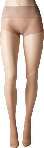 HUE Women's Flat-Tering Fit Sheer Tights, Tan, 2
