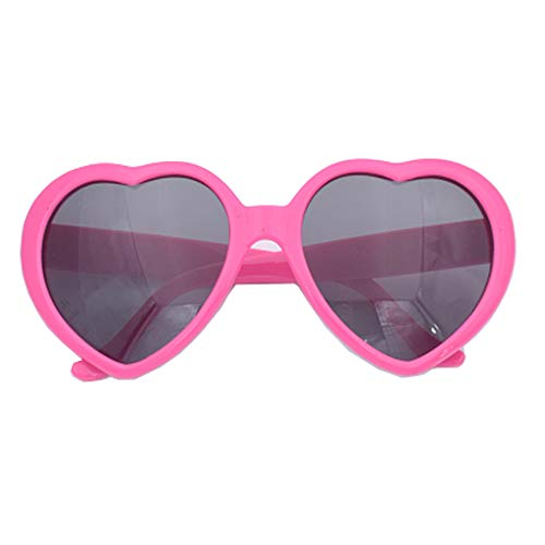 Lady Fashion Eyewear - Fashion Large Women Lady Girl Oversized Heart Shaped Retro Sunglasses Cute Love Eyewear (Rose red)