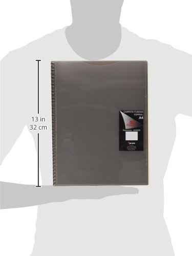 Pryse 4240050–Spiral Folder with 50Sleeves, A4, Grey by PRYSE (Image #2)
