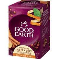 Good Earth Sweet & Spicy Herbal & Black Tea, 18 Tea bags, 1.43 Ounce (Pack of 3)