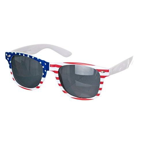 Republic Unisex American Flag Wayfarer Sunglasses, American Flag 1, 52 - American Flag Cheap Sunglasses