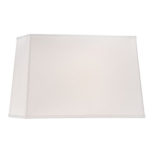 Large Rectangle Lamp Shade in White Linen Fabric with Spider