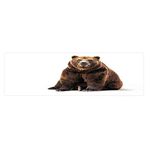 s Bear on White HD Fish Tank Decorations Sticker L29.5 x H19.6 ()