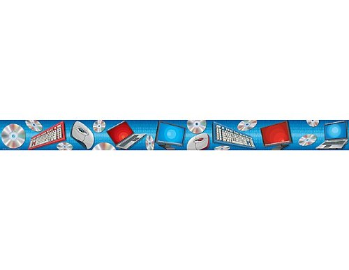 Teacher Created Resources Computer Straight Border Trim, Blue (4084)