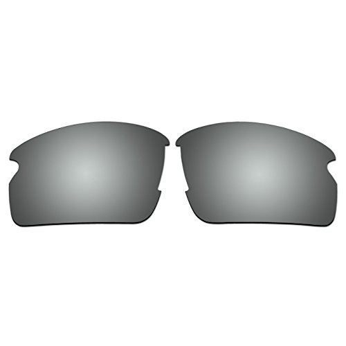 ACOMPATIBLE Replacement Lenses for Oakley Flak 2.0 Sunglasses OO9295 (Not Fit Flak 2.0 XL) (Titanium - - 2.0 Lenses Oakley