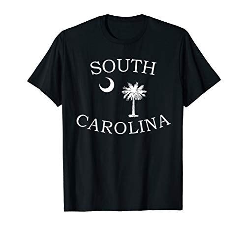 South Carolina State Flag Shirt Moon & Palmetto Tree Tee