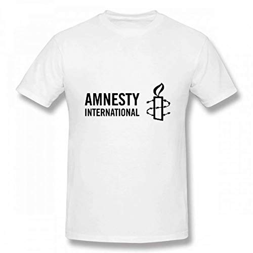 Lzeasiea Amnesty International Men's Tee Fashion T-Shirt White