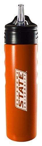 LXG, Inc. Oklahoma State University-Stillwater-24oz. Stainless Steel Grip Water Bottle with Straw-Orange
