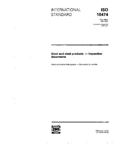 ISO 10474:1991, Steel and steel products - Inspection documents pdf