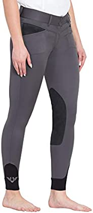 TuffRider Women's Sydney Knee Patch Breeches with Contoured Sock Bo