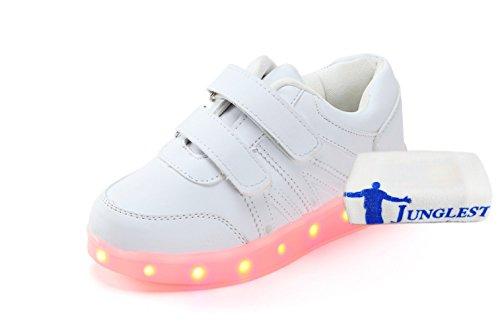 (Present:kleines Handtuch)JUNGLEST Damen Hohe Sneaker Weiß USB Aufladen LED Leuchtend Fasching Partyschuhe Sportsc c5