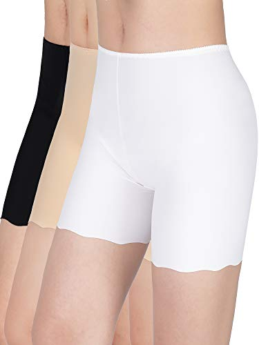 3 Pairs Silk Safety Shorts Safety Pants Underwear Shorts Wear Under Skirt for Women Favor