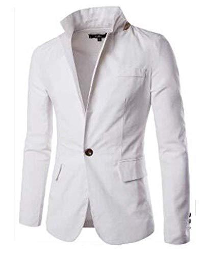 Capispalla Uomo Casual Cappotto Giacca Suit Bianca Da Elegante Abbigliamento Business Moda Blazer Slim Fit 5fq8Fwn