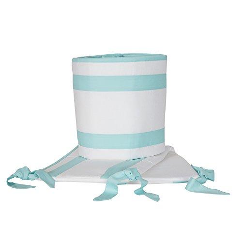 crib bumper aqua - 8