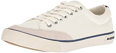SeaVees Men's Westwood Tennis Shoe Casual Sneaker, Natural Salt Washed Canvas, 7.5 D(M) US