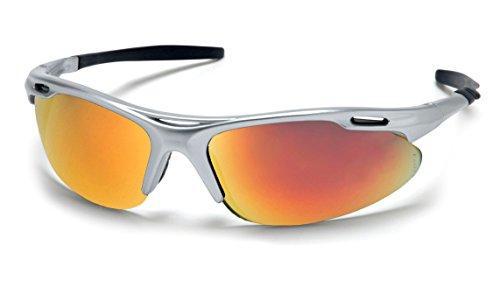 (Pyramex Safety Avante Eyewear, Silver Frame, Ice Orange Lens)