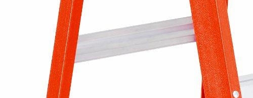 Louisville FS1502 Fiberglass Heavy Duty Step Ladder, 28 3/8'', 2-Step, Orange by Louisville Ladder (Image #3)