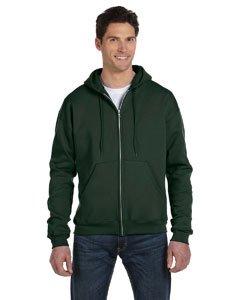 Champion Adult Eco Full-Zip Hooded Fleece, Green, Large -