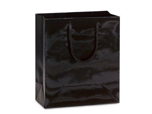 BLACK GLOSS Gift Bags CUBBULK 8x4x10'' 1 unit, 100 pack per unit.