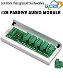 Leviton 48211-6A 1X6 Passive Audio Module (Pkg of 3)