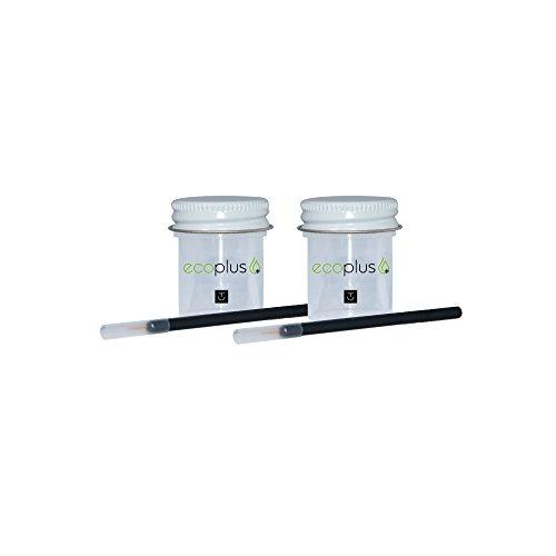 Repair Chip Scratch Paint (Touch Up Paint Ecoplus+ Color & Clear-coat Chip Scratch Repair Kit - Saab 3-Sep 293 Parchment Silver Metallic)