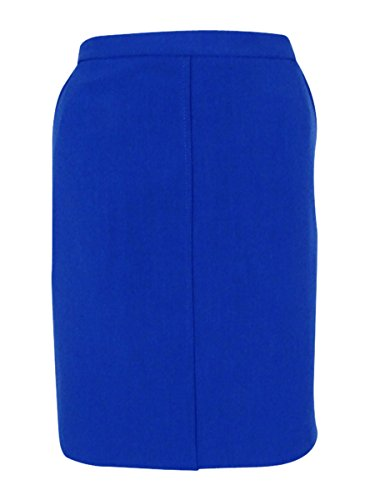 Anne Klein Womens Crepe Mini Pencil Skirt Blue 8